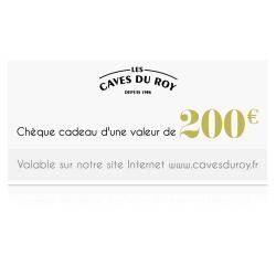 Chèque cadeau 200 €
