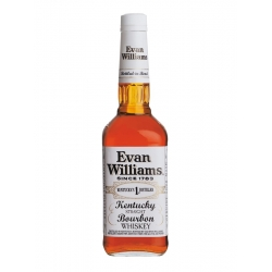 Evan Williams white label 100 proof bottled in bond