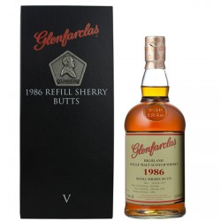 Glenfarclas 1986 Family Series V refill sherry but