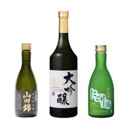 Trois Sake japonais
